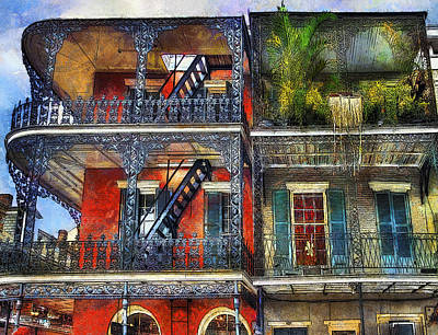 Poster featuring the photograph Vieux Carre' Balconies by Tammy Wetzel