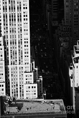 View Down Towards Fifth 5th Avenue Ave New York City Manhattan Streets Poster by Joe Fox