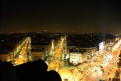 View From Arc De Triomphe - Paris France - 011316 Poster