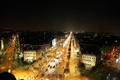 View From Arc De Triomphe - Paris France - 011318 Poster