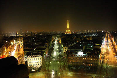 View From Arc De Triomphe - Paris France - 011323 Poster by DC Photographer