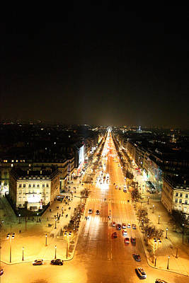 View From Arc De Triomphe - Paris France - 01136 Poster by DC Photographer
