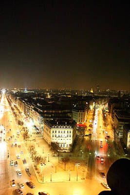 View From Arc De Triomphe - Paris France - 01138 Poster by DC Photographer