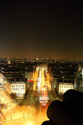 View From Arc De Triomphe - Paris France - 01139 Poster by DC Photographer