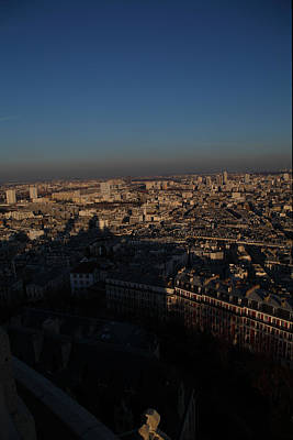 View From Basilica Of The Sacred Heart Of Paris - Sacre Coeur - Paris France - 011325 Poster