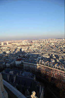 View From Basilica Of The Sacred Heart Of Paris - Sacre Coeur - Paris France - 011326 Poster by DC Photographer