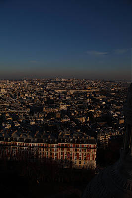 View From Basilica Of The Sacred Heart Of Paris - Sacre Coeur - Paris France - 011329 Poster by DC Photographer