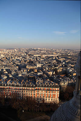 View From Basilica Of The Sacred Heart Of Paris - Sacre Coeur - Paris France - 011330 Poster