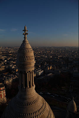 View From Basilica Of The Sacred Heart Of Paris - Sacre Coeur - Paris France - 011333 Poster by DC Photographer