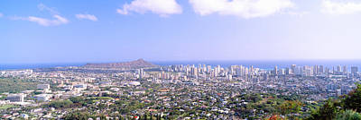 View From Diamond Head Volcano Poster
