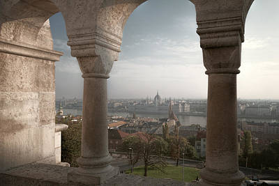 View From Fishermans Bastion Poster by Joan Carroll
