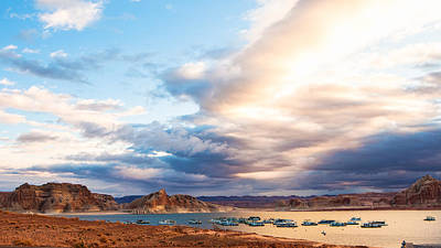 View From Lake Powell Harbor Poster by Susan Schmitz