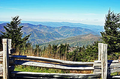 View From Mt. Mitchell Summit Poster