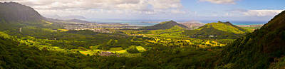 View From Nuuanu Pali Poster by Matt Radcliffe