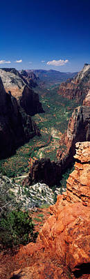 View From Observation Point, Zion Poster by Panoramic Images