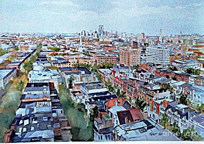 View From Penthouse Prospect Park West Poster