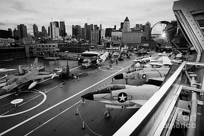 view from the bridge of the USS Intrepid at the Intrepid Sea Air Space Museum Poster by Joe Fox