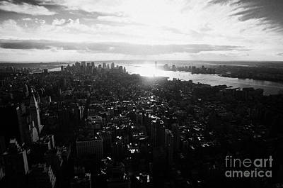 View From The Empire State Building Over Lower Manhattan New York City Usa Poster