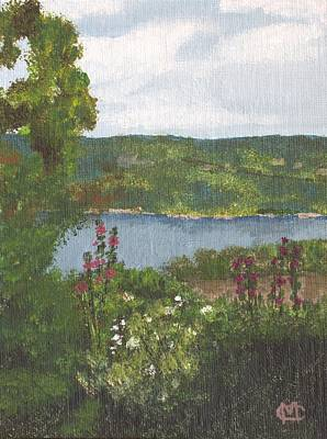Poster featuring the painting View From The Garden by Cynthia Morgan