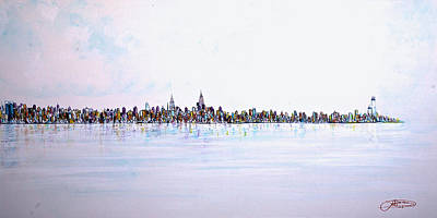 View From The Hudson Poster