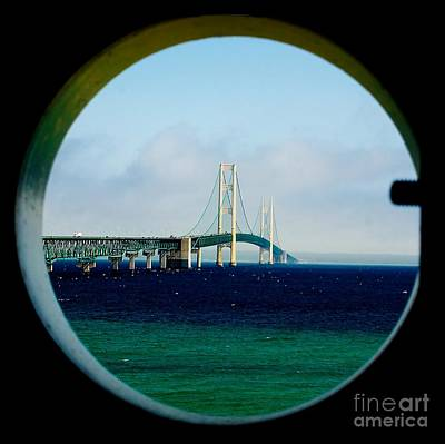 View From The Mackinac Light Poster by Nick Zelinsky