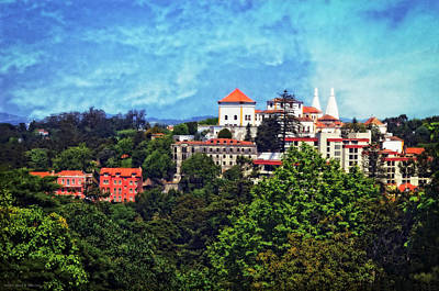 View From The Rooftop - Sintra Poster by Mary Machare