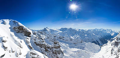 View From Titlis Mountain Towards The South Poster by Carsten Reisinger