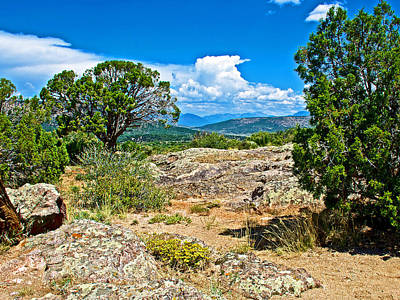 View From Warner Point Trail In Black Canyon Of The Gunnison National Park-colorado  Poster by Ruth Hager