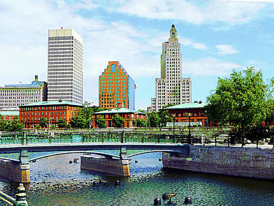 View From Waterplace Park Providence Ri Poster by Susan Savad