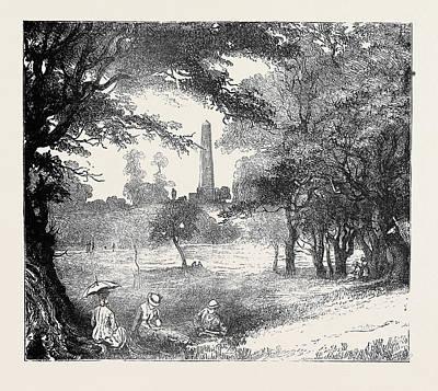 View In Phoenix Park, Dublin Poster by Irish School