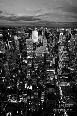 View North At Dusk Towards Central Park New York City Skyline  Poster