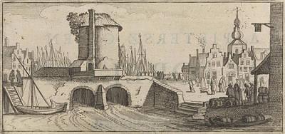 View Of A Bridge In A City, Print Maker Jan Van De Velde II Poster