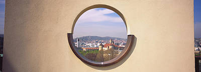 View Of A City Through An Observation Poster