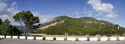 View Of A Road With Mountain Poster by Panoramic Images