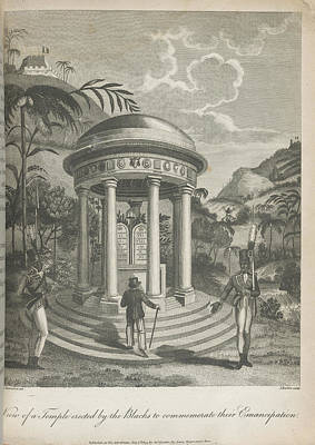 View Of A Temple Poster by British Library