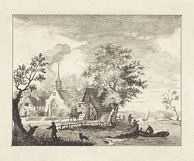 View Of A Town Square, Henricus Van Der Winden Poster
