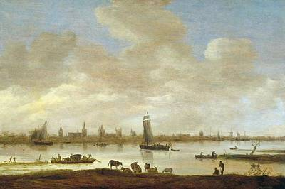 View Of An Imaginary City Poster by Jan van Goyen