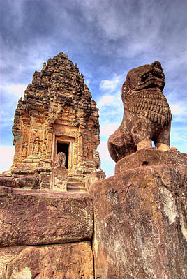 View Of Bakong Temple, Angkor Wat Poster