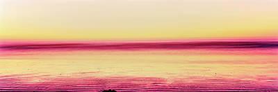 View Of Beach At Sunset, Morro Bay, San Poster
