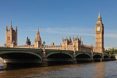 View Of Big Ben And Houses Poster by Panoramic Images