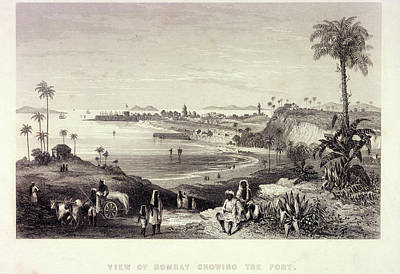 View Of Bombay Showing The Fort Poster