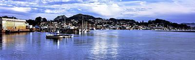 View Of City At Waterfront, Morro Bay Poster