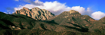 View Of Cochise Head Mountain, Cochise Poster