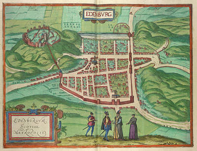 View Of Edinburgh Poster by British Library