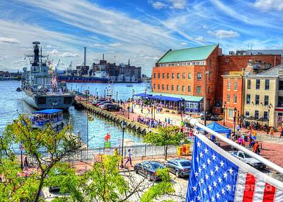 View Of Fells Point Poster by Debbi Granruth