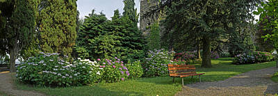View Of Garden Around La Rocca Poster