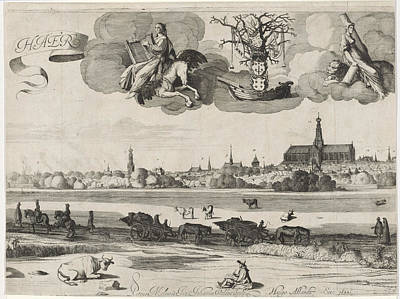 View Of Haarlem C, The Netherlands, Jan Van De Velde II Poster by Jan Van De Velde (ii) And Hugo Allard