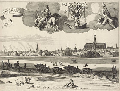 View Of Haarlem, Jan Van De Velde II, Reinier And Josua Poster by Jan Van De Velde (ii) And Reinier And Josua Ottens