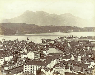 View Of Lucerne And The Lake Lucerne, Giorgio Sommer Poster