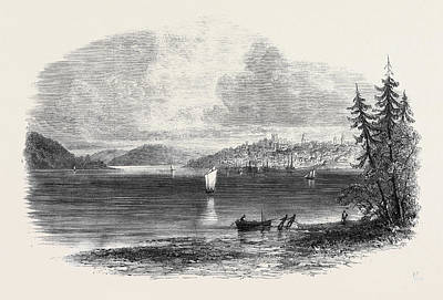 View Of Lunenburg From Battery Point The Nova Scotian Poster by English School